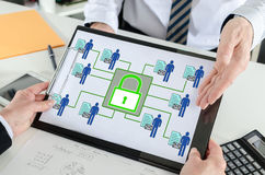 Personal data security concept on a clipboard Stock Photo