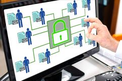 Personal data security concept on a computer monitor. Personal data security concept shown on a computer screen Royalty Free Stock Image