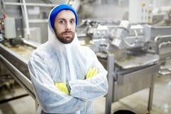 Personal de la fábrica de la comida fotos de archivo
