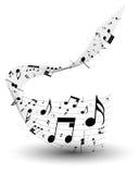 Personal de la nota musical stock de ilustración