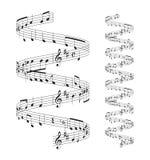 Personal de las notas musicales Imagen de archivo
