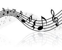 Personal de las notas musicales Foto de archivo