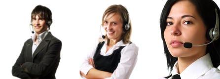 Personal del servicio de atención al cliente Foto de archivo libre de regalías
