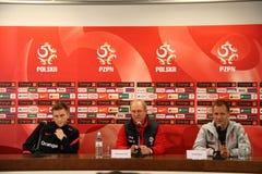 Personal des polnischen nationalen Fußballteams Stockfotos