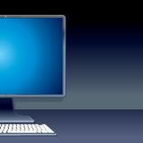 Personal Desktop Computer PC. Vector Illustration Stock Image