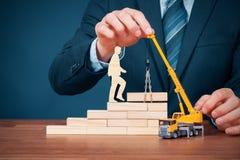 Personal development and career build stock photos