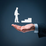 Personal development career. Personal development, personal and career growth, success, progress and potential concepts. Coach (human resources officer Stock Images