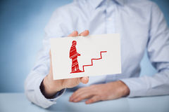 Personal development career. Personal development, personal and career growth, success, progress and potential concepts. Coach (human resources officer Stock Image