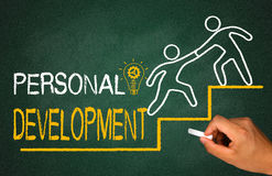 Personal development. Concept on chalkboard Royalty Free Stock Photo