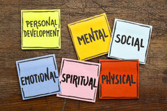 Personal development concept on sticky notes Stock Photo