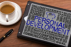 Personal development concept. On touch screen Stock Images