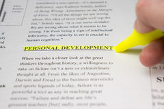 Personal development highlighted in a business text. Stock Photos