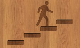 Career stairs background with man royalty free stock photo