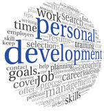 Personal development in tag cloud Royalty Free Stock Image