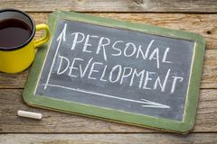 Personal development in white chalk on blackboard Royalty Free Stock Photography