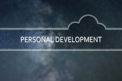 PERSONAL DEVELOPMENT word cloud Concept. Space background. vector illustration