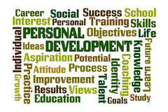 Personal Development. Word cloud on white background Royalty Free Stock Image