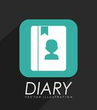 Personal diary icon. Design, vector illustration eps10 graphic Stock Image