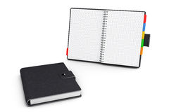 Personal Diary or Organiser Book with Blank Pages. 3d Rendering Royalty Free Stock Image