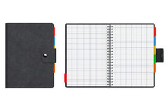 Personal Diary or Organiser Book with Blank Pages. 3d Rendering Royalty Free Stock Images