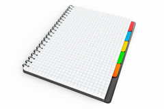 Personal Diary or Organiser Book with Blank Pages. 3d Rendering. Personal Diary or Organiser Book with Blank Pages on a white background. 3d Rendering Stock Photos