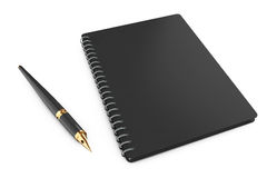 Personal Diary or Organiser Book with Pen. 3d Rendering. Personal Diary or Organiser Book with Pen on a white background. 3d Rendering Royalty Free Stock Photos