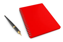 Personal Diary or Organiser Book with Pen. 3d Rendering. Personal Diary or Organiser Book with Pen on a white background. 3d Rendering Stock Photography