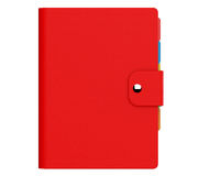 Personal Diary or Organiser Book with  Red Leather Cover. 3d Ren Royalty Free Stock Photography