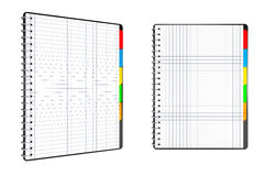 Personal Diary or Organiser Books with Blank Pages. 3d Rendering Stock Images