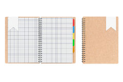 Personal Diary or Organiser Books with Blank Pages. 3d Rendering Royalty Free Stock Photography