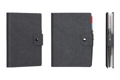 Personal Diary or Organiser Books with Leather Cover. 3d Renderi Royalty Free Stock Photography