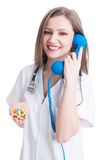 Personal doctor contact concept Stock Image