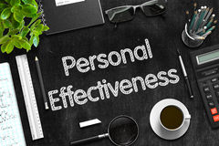 Personal Effectiveness on Black Chalkboard. 3D Rendering. Stock Photos