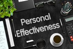 Personal Effectiveness on Black Chalkboard. 3D Rendering. Black Chalkboard with Personal Effectiveness Concept. 3d Rendering Stock Photos