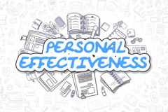Personal Effectiveness - Doodle Blue Word. Business Concept. Royalty Free Stock Image