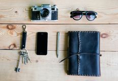 Personal everyday accessories of urban people Royalty Free Stock Photography