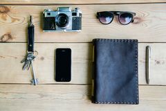 Personal everyday accessories of urban people Stock Images