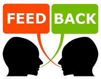Personal feedback. Giving and receiving face to face feedback royalty free illustration