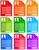 Personal files. Or dossiers in several colors Royalty Free Stock Image