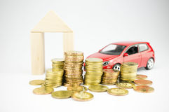Personal finance, budgeting and retirement savings Royalty Free Stock Image