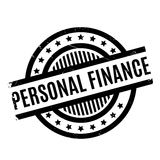 Personal Finance rubber stamp. Grunge design with dust scratches. Effects can be easily removed for a clean, crisp look. Color is easily changed Stock Illustration