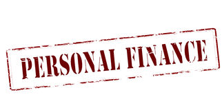 Personal finance. Stamp with text personal finance inside,  illustration Royalty Free Stock Images