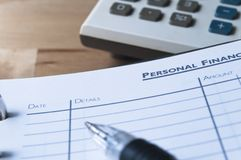 Personal Finances Royalty Free Stock Photo
