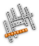 Personal financial planning. (orange-white crossword puzzles series Stock Photo
