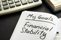 Free Personal Goal - Financial Stability Inscription Royalty Free Stock Photography - 163608587