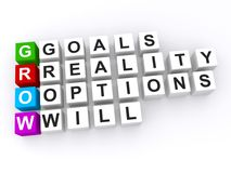 Personal goals grow acronym Stock Photo