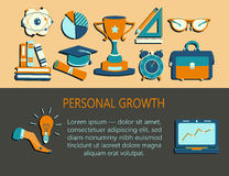 Personal growth creative illustration. Stock Image