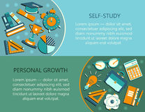 Personal growth creative illustration. Stock Photos
