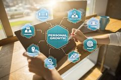 Personal growth and development concept. Chart with keywords and icons. Personal growth and development concept. Chart with keywords and icons stock images
