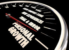 Personal Growth Leave Your Comfort Zone Speedometer royalty free illustration